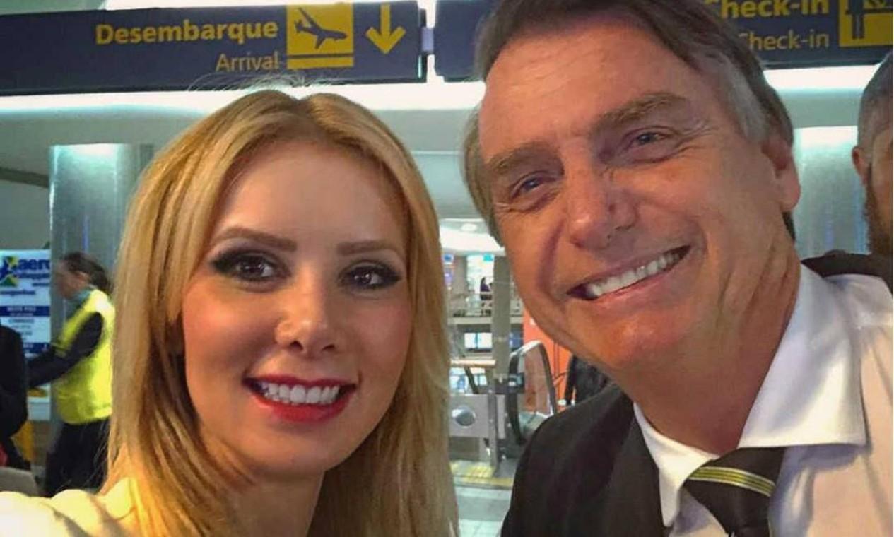 Letícia Catelani é próxima da família Bolsonaro Foto: Reprodução