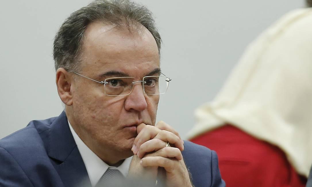 Deputado Samuel Moreira (PSDB-SP), na comissão mista da Previdência Foto: Jorge William / Agência O Globo