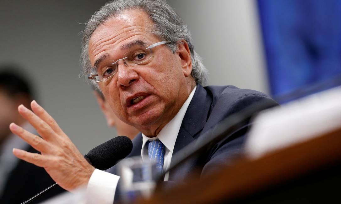 Ministro da Economia, Paulo Guedes Foto: Adriano Machado / Reuters