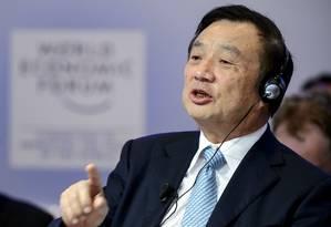 Presidente da Huawei, Ren Zhengfei Foto: AFP