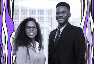Barbosa e Thais são da primeira turma do Soma Talentos, programa de inclusão racial do Mattos Filho para universitários Foto: Alice Vergueiro / O GLOBO