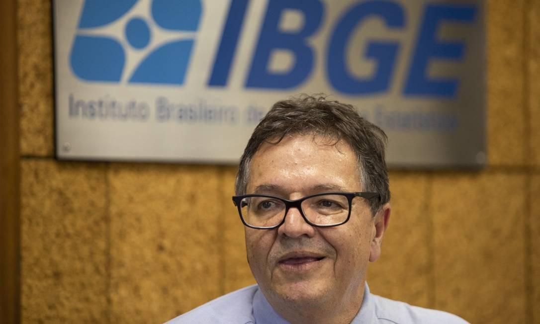 Eduardo Rios Neto, diretor de Pesquisas do IBGE Foto: Gabriel Monteiro / Agência O Globo