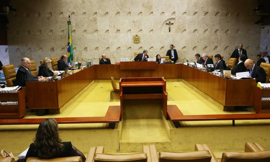 Plenário do STF Foto: Ailton de Freitas / Agência O Globo