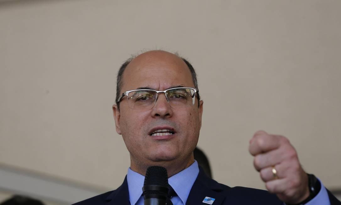 Governador do Rio, Wilson Witzel Foto: Pablo Jacob / Agência O Globo