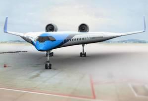Modelo de avião da KLM Foto: Reprodução