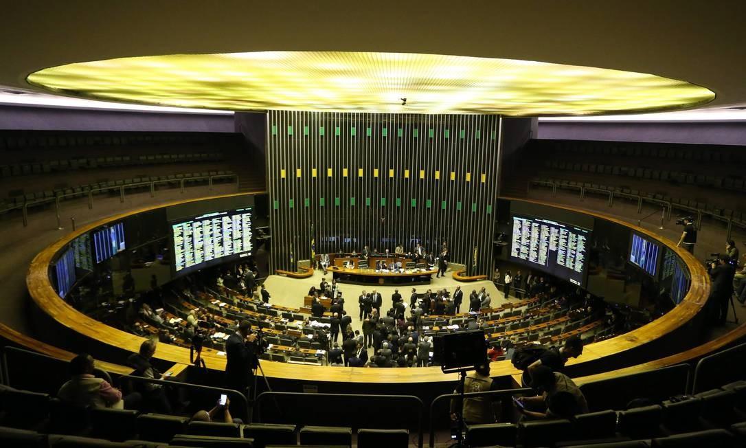 Plenário da Câmara Foto: Ailton de Freitas / Agência O Globo
