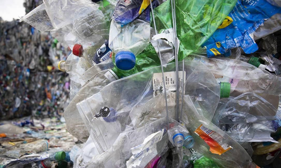 Lixo plástico na Holanda Foto: Bloomberg / Bloomberg