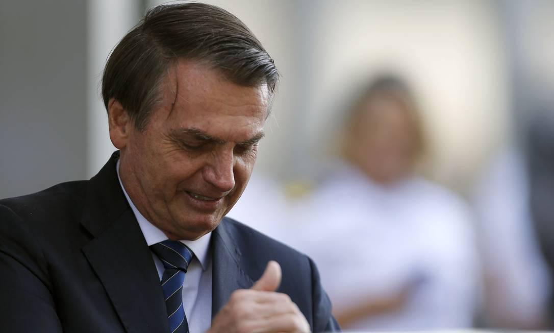 Presidente Jair Bolsonaro em Brasília Foto: Jorge William / Agência O Globo