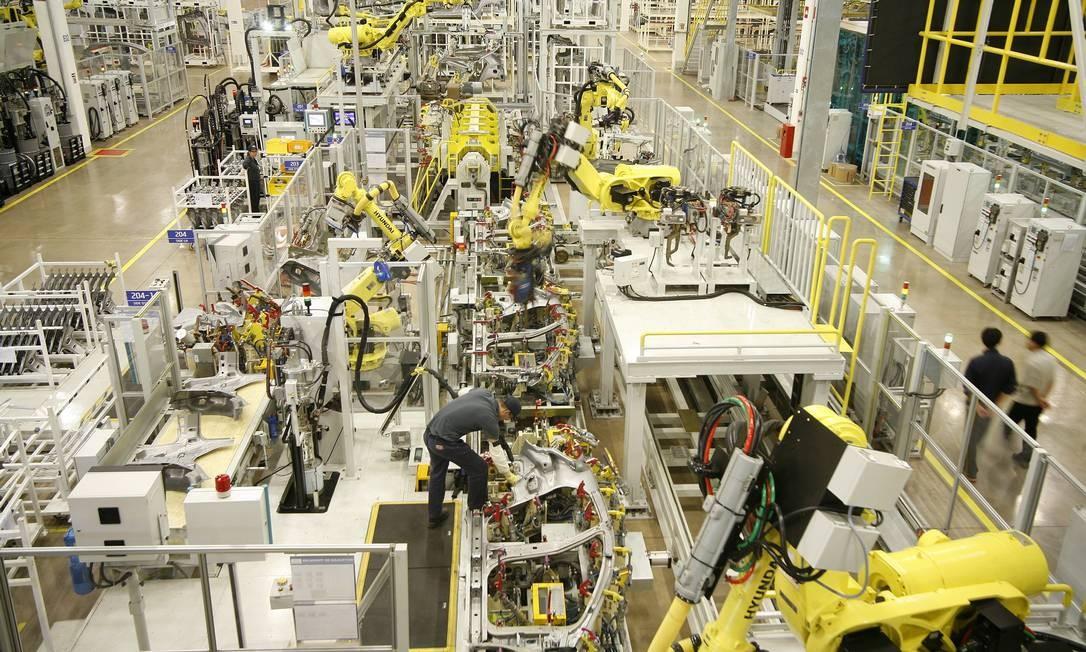 Setor de produção da indústria de automóveis Foto: Christiano Diehl Neto / Agência O Globo