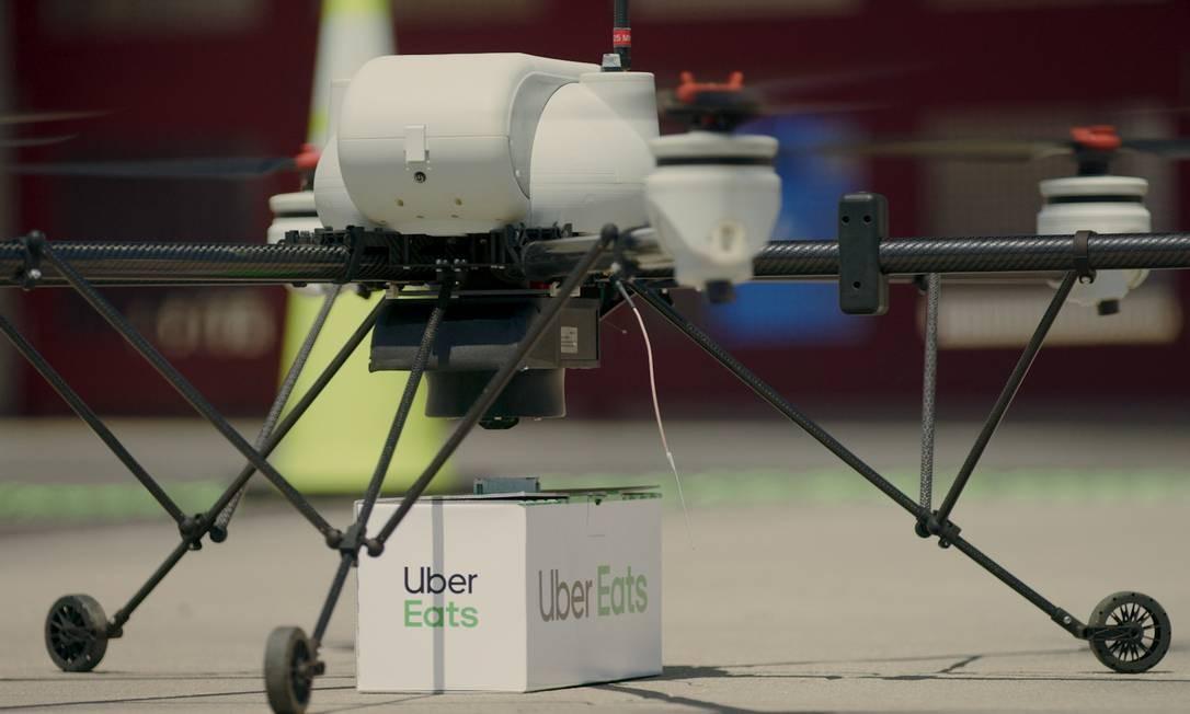 Uber Eats testa serviço de entrega por drones Foto: Divulgação