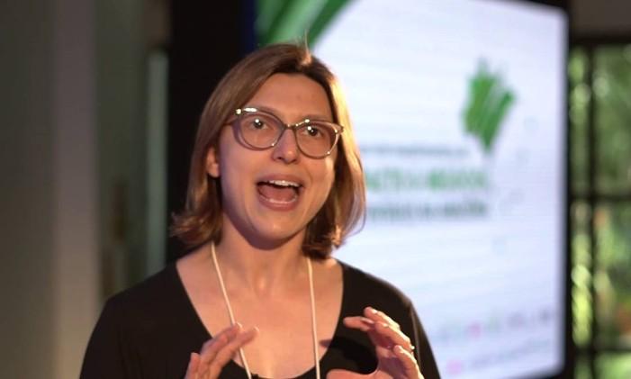 Daniela Baccas, demitida da gestão do Fundo Amazônia Foto: Reprodução