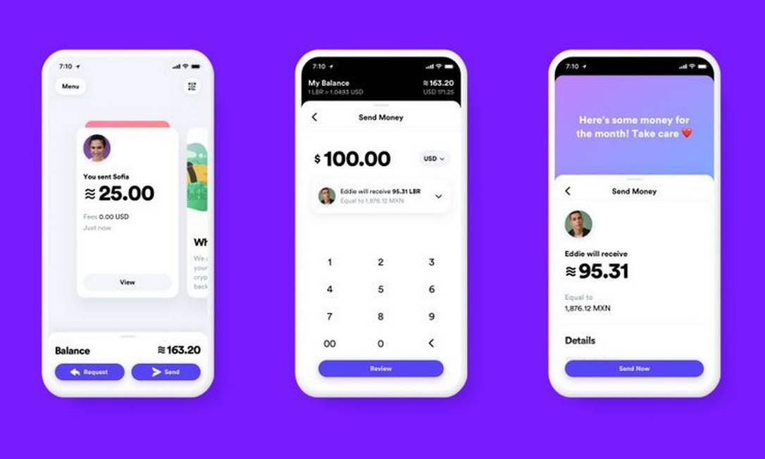 Aplicativos para uso da Libra, moeda virutal do Facebook Foto: Bloomberg