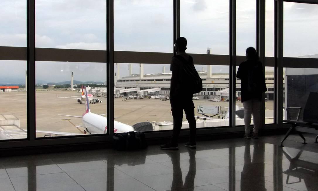 Aeroporto Galeão Foto: Marcelo Carnaval / Agência O Globo