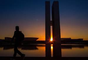 Final de tarde no Congresso, em Brasília Foto: Daniel Marenco / Agência O Globo