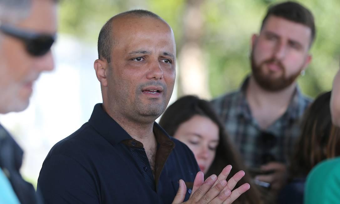 Deputado Major Vitor Hugo (PSL-GO), líder do Governo na Câmara Foto: Jorge William / Agência O Globo