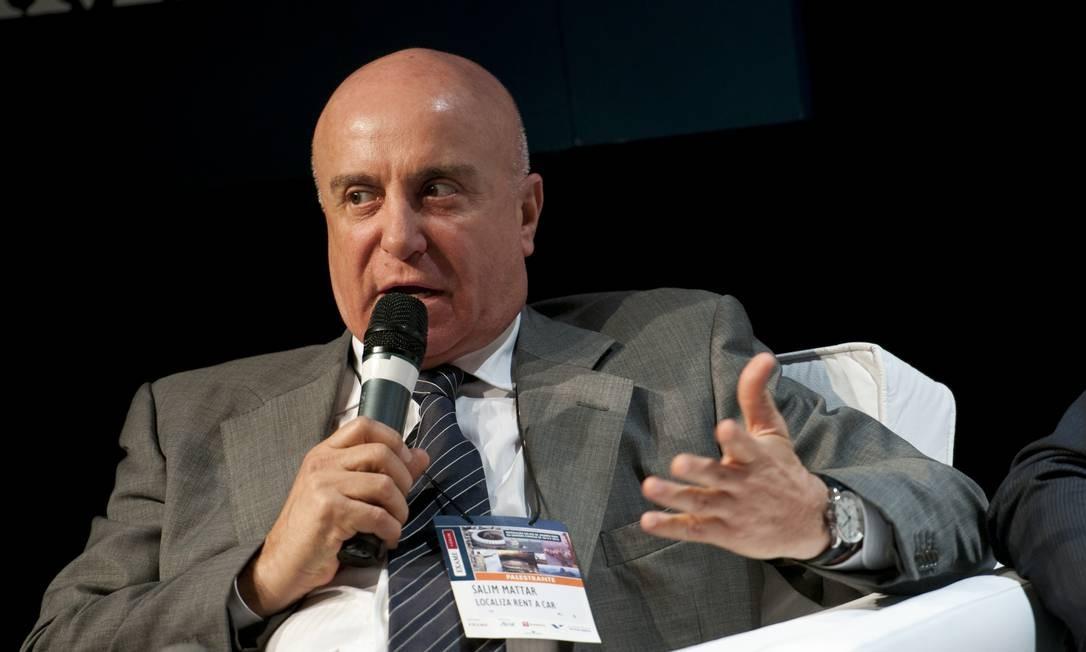 Secretário de Desestatização, Salim Mattar, em evento Foto: Aline Massuca / Agência O Globo