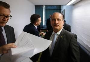 Onyx Lorenzoni, ministro da Casa Civil do governo Jair Bolsonaro Foto: Daniel Marenco / Agência O Globo