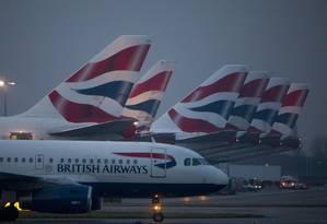 Aviões da British Airways Foto: Jason Alden / Bloomberg
