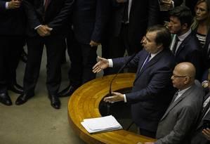 Votação da reforma da previdência no plenário da Câmara dos Deputados Foto: Daniel Marenco / Agência O Globo