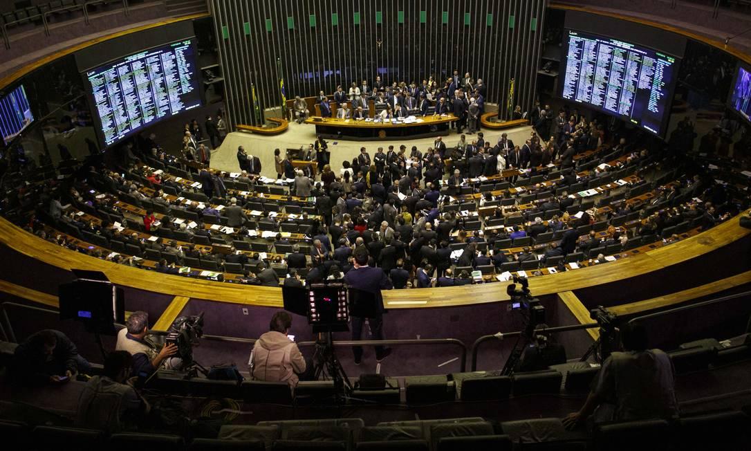 BRASIL - Brasilia, DF - 11/07/2019 - Reforma da Previdencia. Retomada a votação da reforma da Previdência na Câmara Foto: Daniel Marenco / Agência O Globo