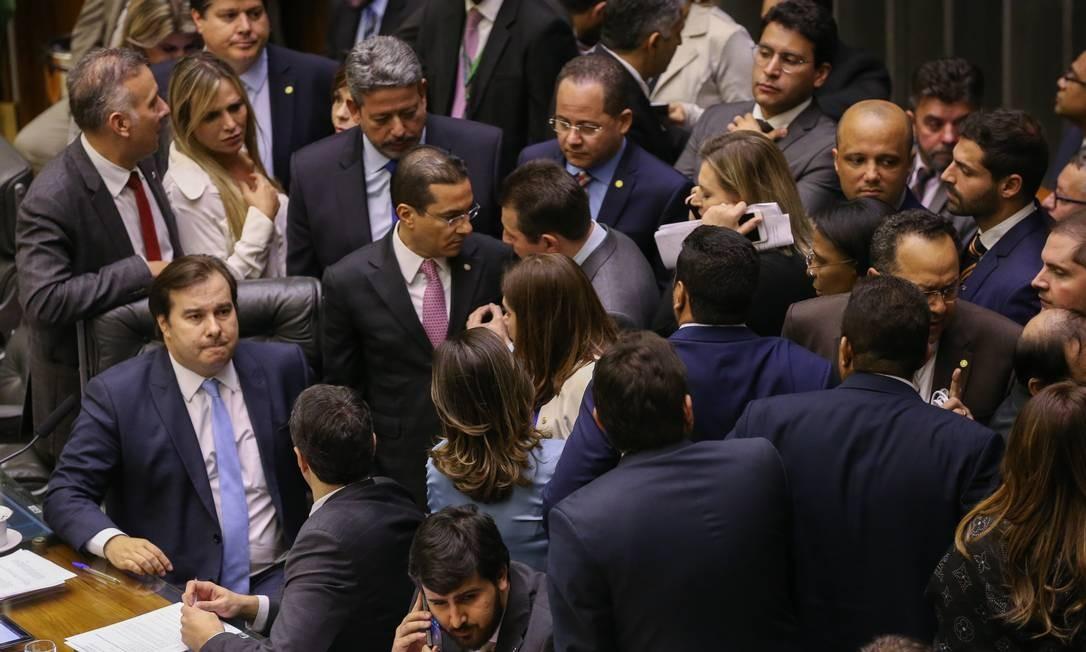 Sessão da câmara para discutir emendas da reforma da Previdência Foto: Lula Marques