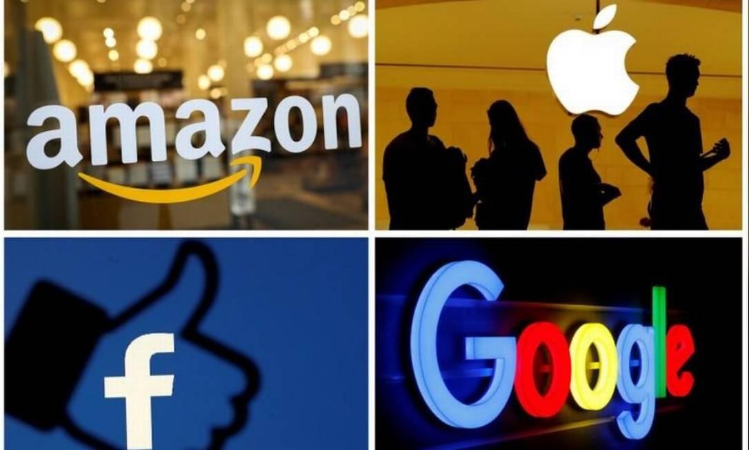 Grandes empresas de tecnologia dos EUA vão ser investigadas Foto: Montagem