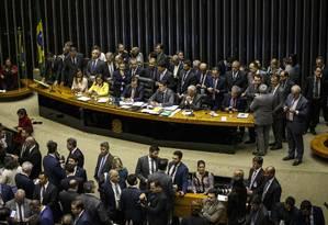 Câmara conclui votação do primeiro turno da reforma da Pevidência Foto: Daniel Marenco / Agência O Globo