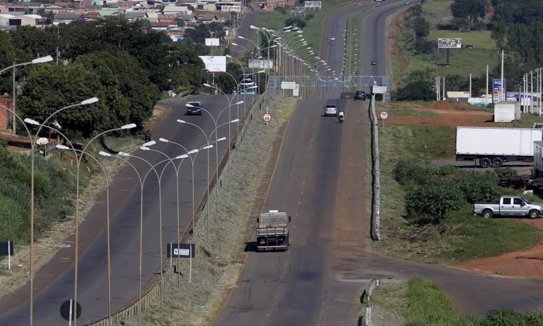 Rodovia BR 153 em Anápolis, Goiás, nos planos do governo para privatização Foto: Michel Filho / Agência O Globo
