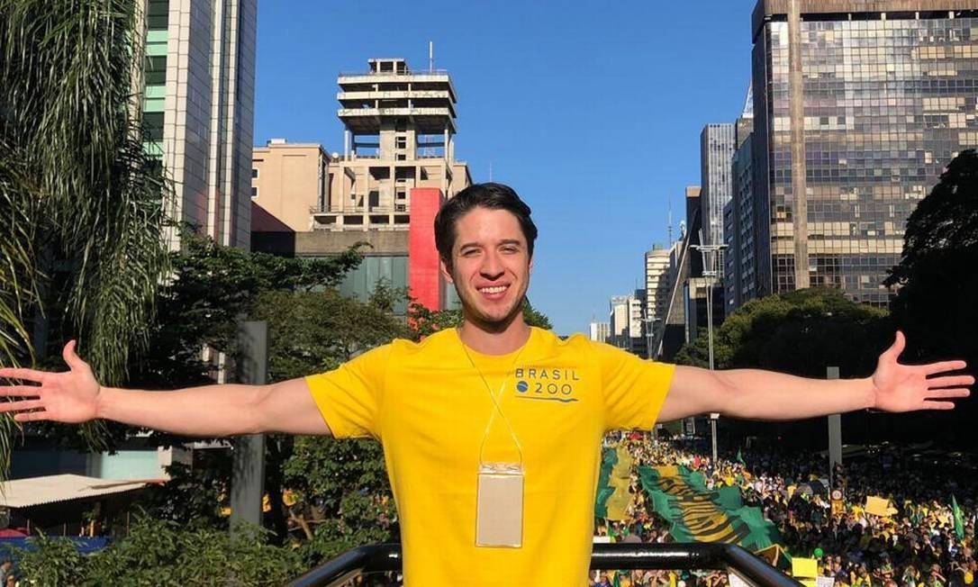 Presidente do Instituto Brasil 200, Gabriel Kanner promete manifestação de rua em favor de imposto único Foto: Divulgação