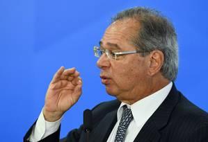 Ministro da Economia, Paulo Guedes Foto: Evaristo Sá / Agência O Globo