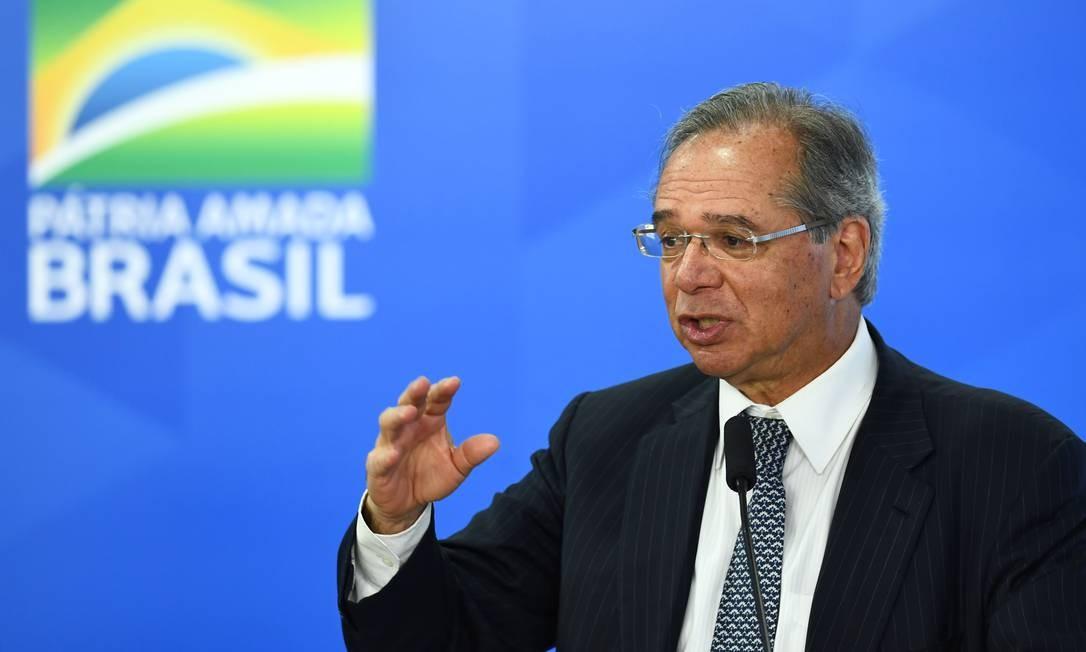 Paulo Guedes, ministro da Economia do governo Jair Bolsonaro Foto: Evaristo Sá / AFP