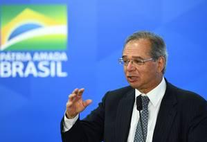O ministro da Economia, Paulo Guedes Foto: Evaristo Sá / AFP