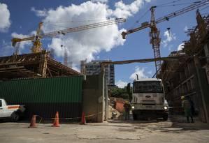 Reaquecimento da construção civil em bairros da zona sul do Rio Foto: Gabriel Monteiro / Agência O Globo