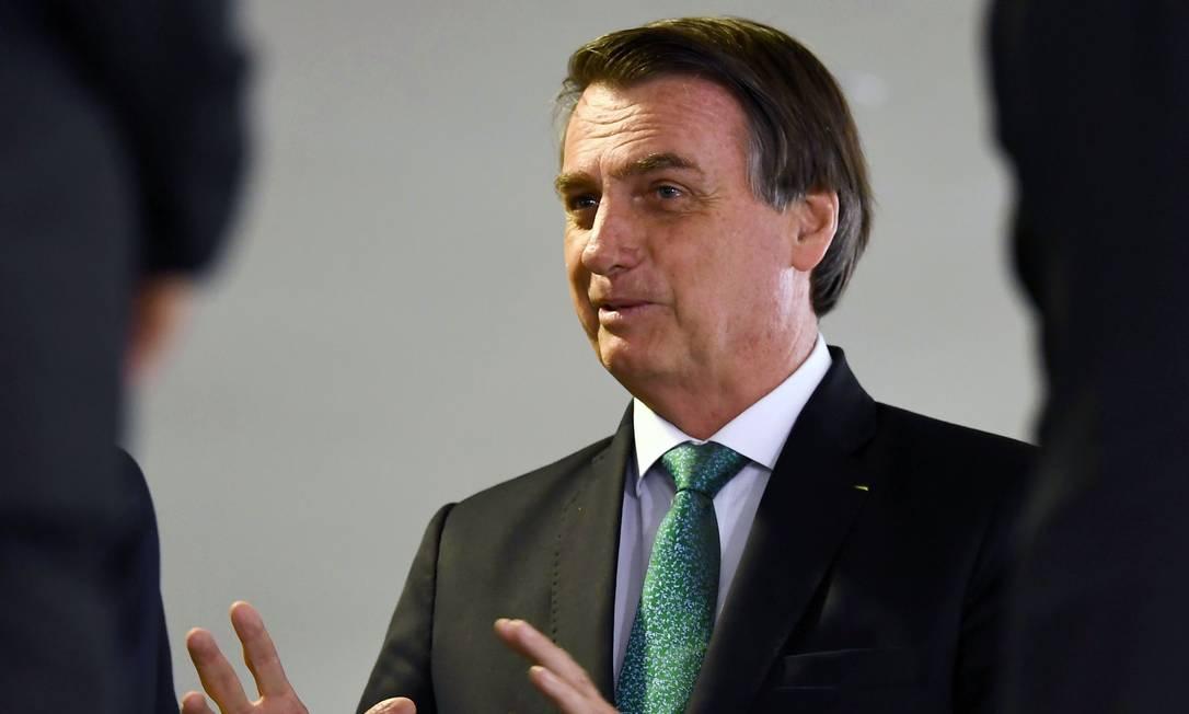 Presidente Bolsonaro no Palácio do Planalto Foto: Evaristo Sá / AFP