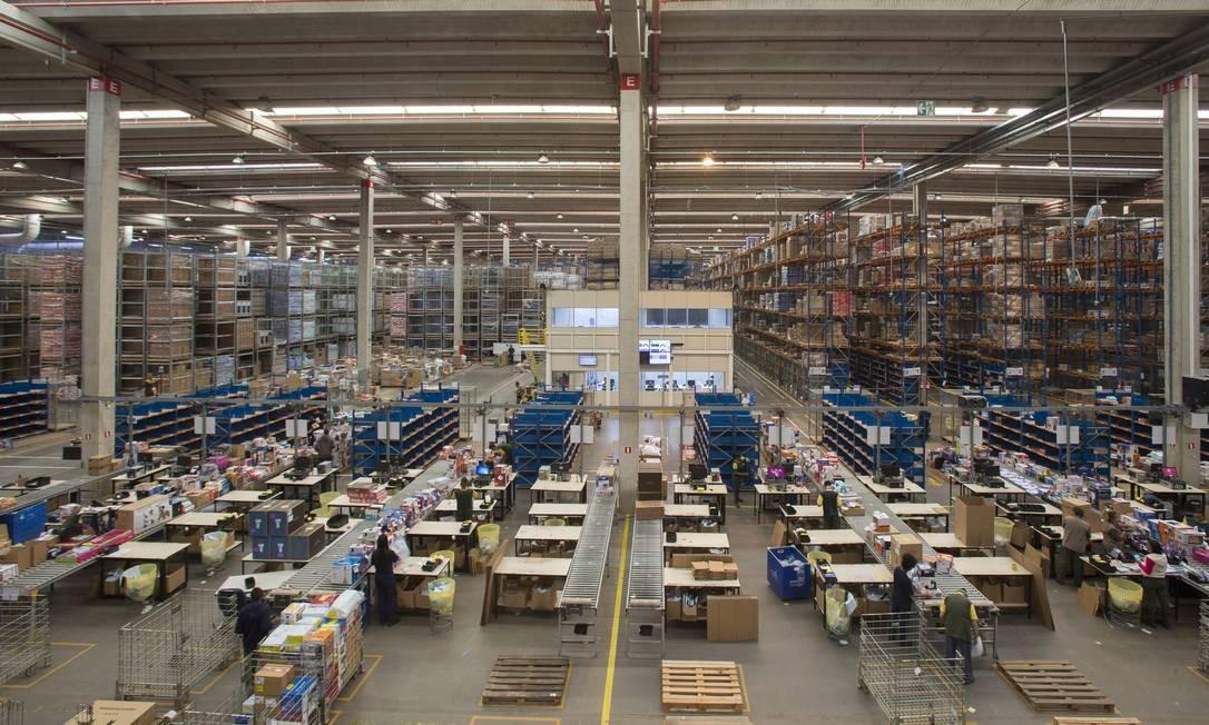 Centro de distribuição da Via Varejo em Jundiaí, São Paulo Foto: Edilson Dantas / Agência O Globo