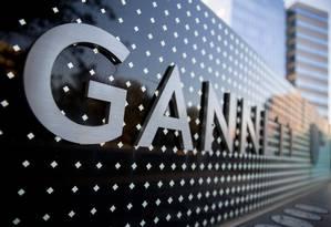Logo da Gannett na sede da empresa, em McLean, Virginia Foto: Andrew Harrer / Bloomberg