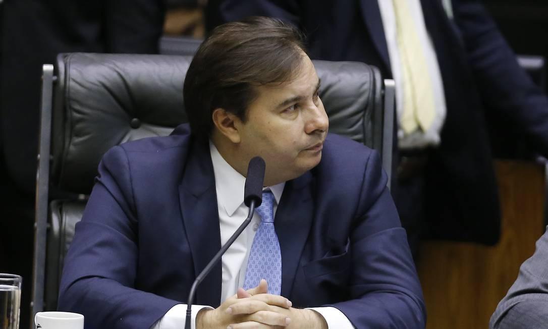 Presidente da Câmara, Rodrigo Maia Foto: Jorge William / Agência O Globo