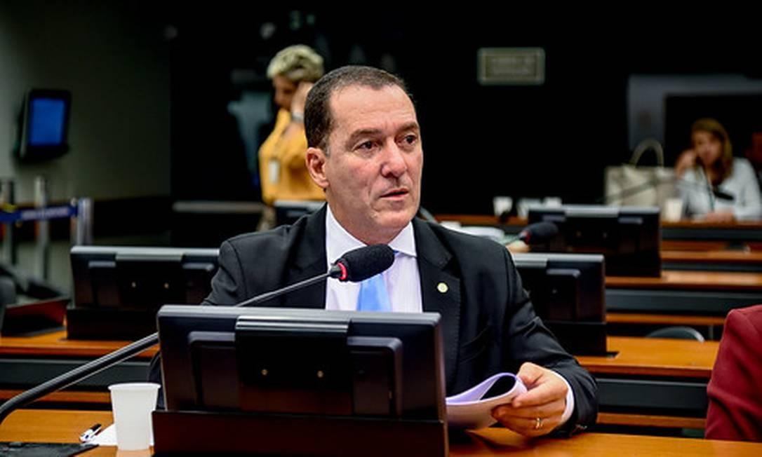 O deputado Vinicius de Carvalho (PRB-SP) durante sessão em comissão da Câmara. Foto: Reprodução/Facebook