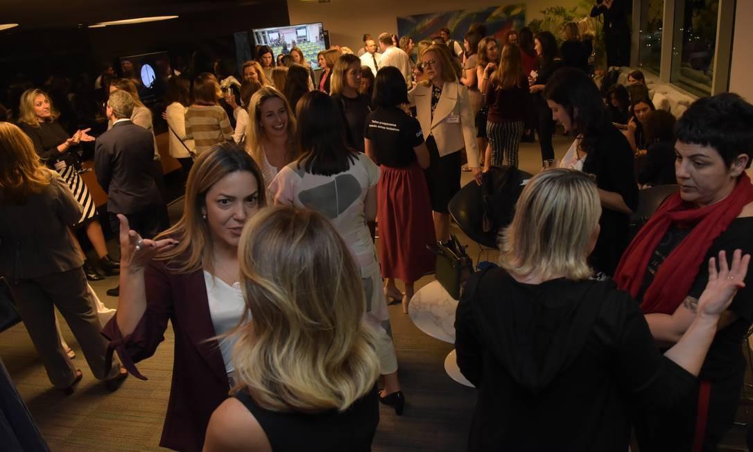Coquetel do evento Mulheres na Lideranca, em São Paulo Foto: Silvia Zamboni / Agência O Globo
