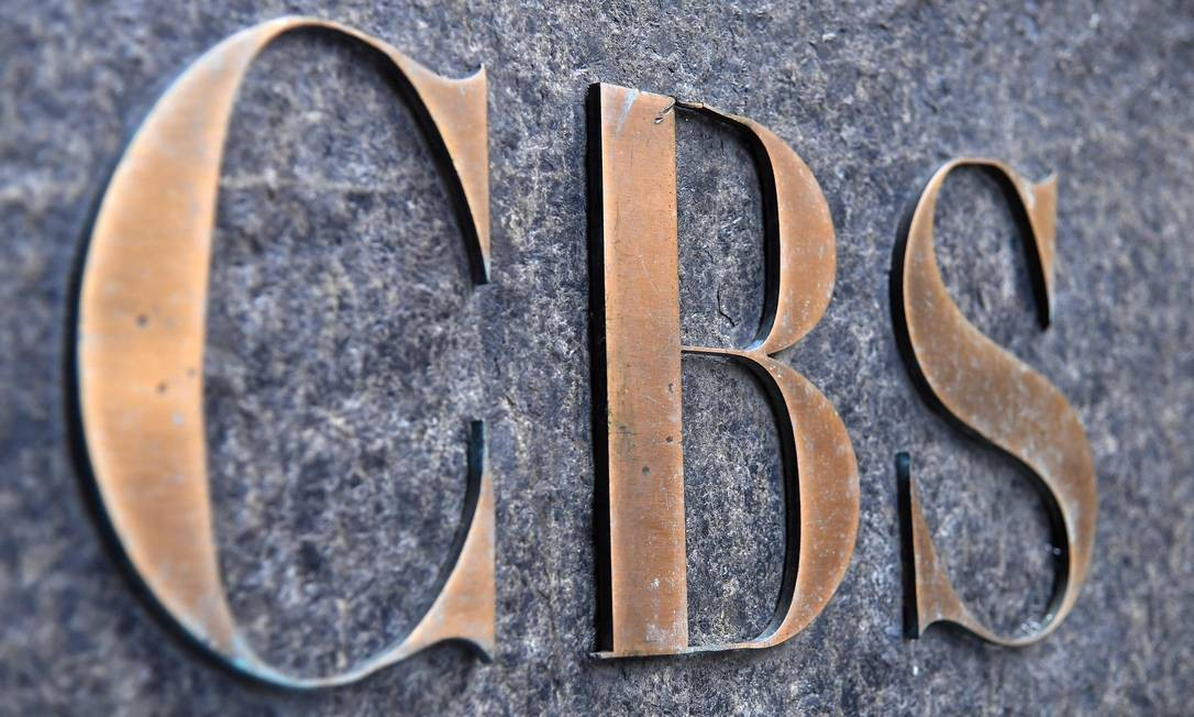 Logo da CBS, que anunciou fusão com a Viacom Foto: AFP