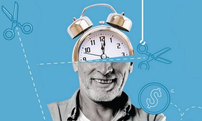 O que muda na aposentadoria por idade? Foto: Infografia O Globo