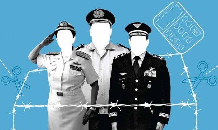 Militares entram na reforma? Foto: Infografia O Globo
