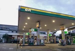 Posto de gasolina da BR, subsidiária da Petrobras Foto: Gabriela Fittipaldi / Agência Globo