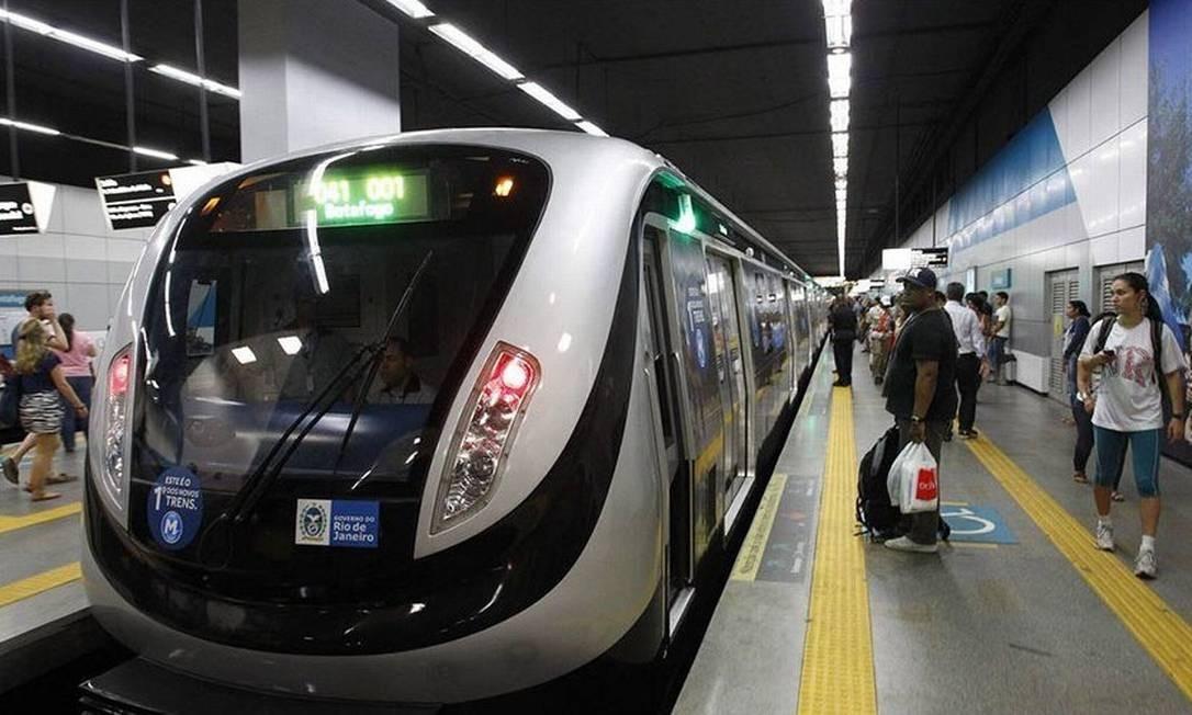 Metrô Rio Foto: Reprodução