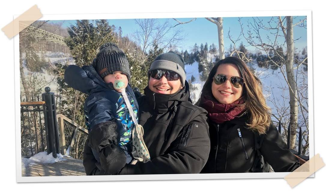 O engenheiro de automação Henrique Trebilcock, de 28 anos, mudou com a família para Quebec no fim de 2018. Ele foi contratado por uma empresa da cidade canadense Foto: Arquivo pessoal