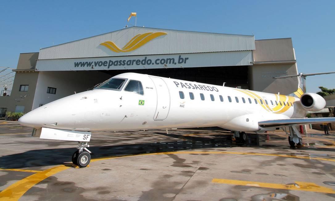 Hangar da Passaredo Linhas Aéreas Foto: Fernando Battistetti / Agência O Globo