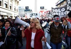 Protestos contra o governo argentino Foto: Reuters