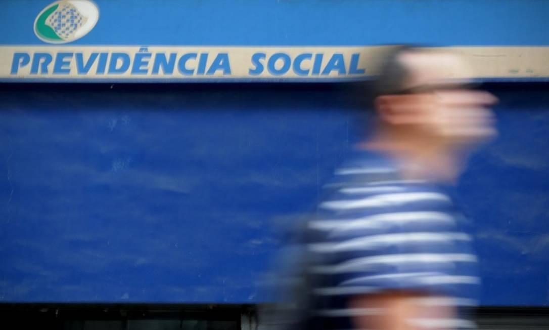 Reforma da Previdência: parecer deve ser discutido e votado no colegiado do Senado na próxima quarta-feira Foto: Márcio Alves- Agência O Globo