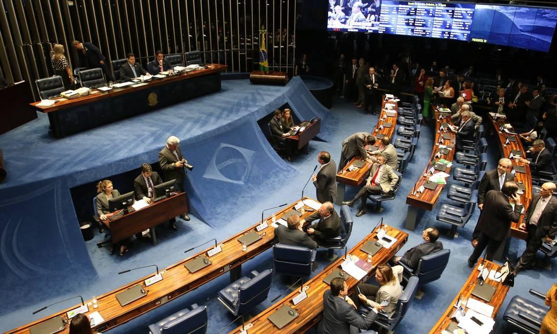 Plenário do Senado durante a votação da PEC da cessão onerosa Foto: Fabio Rodrigues Pozzebom / Agência Brasil