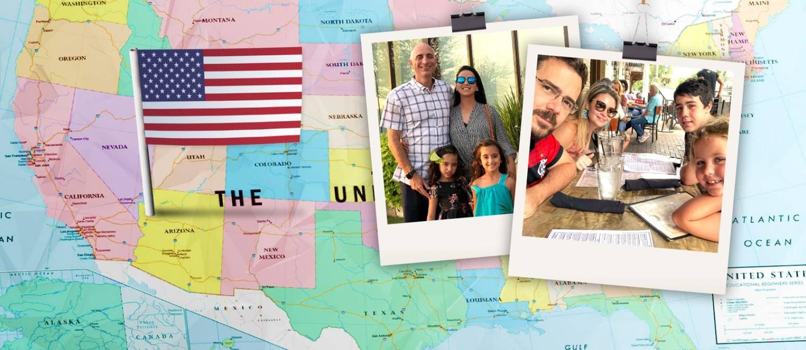 Vida nova: Guilherme Cerqueira (à esquerda) foi com a família para Atlanta. André Dayan (à direita) preferiu o interior Foto: Arquivo pessoal